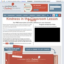 Kindness in the Classroom Lesson Plans
