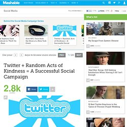 Twitter + Random Acts of Kindness = A Successful Social Campaign