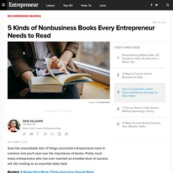 5 Kinds of Nonbusiness Books Every Entrepreneur Needs to Read