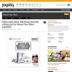 R2D2-style Xbox 360 Kinect bundle rolling out for Star Wars Kinect
