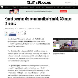 Kinect-carrying drone automatically builds 3D maps of rooms
