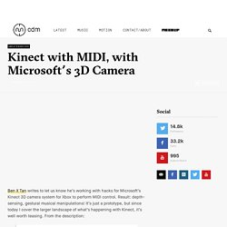 Kinect with MIDI, with Microsoft's 3D Camera - CDM Create Digital Music