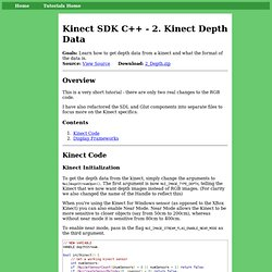 Kinect SDK C++ Tutorials - 2. Depth Images