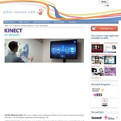 Kinect™ for Windows - AFTER-MOUSE.COM