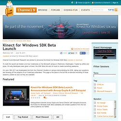 Kinect for Windows SDK Beta Launch