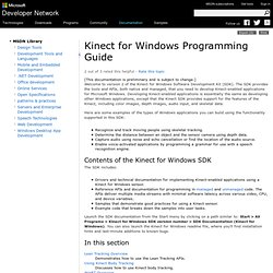Kinect for Windows Programming Guide
