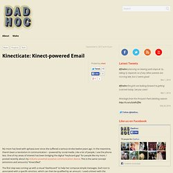 Kinect-powered Email 4 the disabled