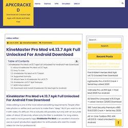 KineMaster Pro Mod v4.13.7 Apk Full Unlocked For Android Download