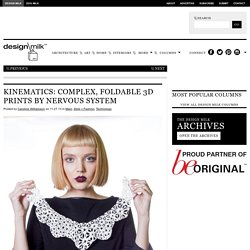 Kinematics 3D-Printed Flexible Modular Jewelry