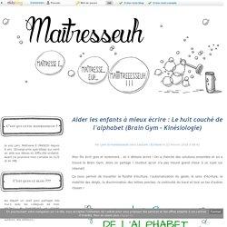 Aider les enfants à mieux écrire : Le huit couché de l'alphabet (Brain Gym - Kinésiologie) - Maîtresseuh