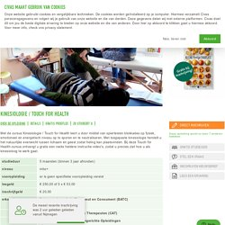 Kinesiologie / Touch for Health - CIVAS Opleidingen