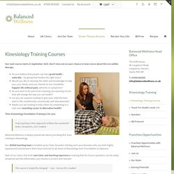 Kinesiology Training Courses - Balanced Wellness - Experts in women's health