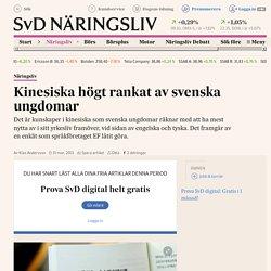Kinesiska högt rankat av svenska ungdomar