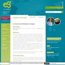 Les études de kinésithérapeute en Espagne - Euroguidance