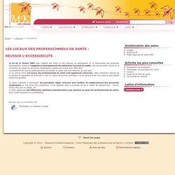 Site Masseurs Kinésithérapeutes de Lorraine / Réussir son accessibilité
