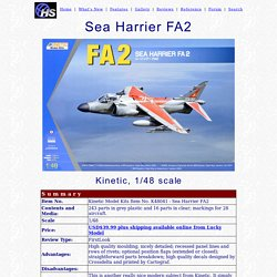 Kinetic 1/48 Sea Harrier FA2 Review by Brett Green