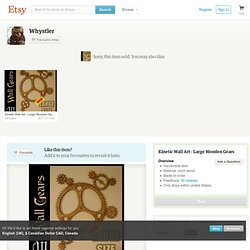 Kinetic Wall Art Large Wooden Gears by Whystler on Etsy