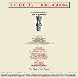 similarities between the edicts of ashoka