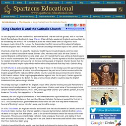 King Charles II and the Catholic Church