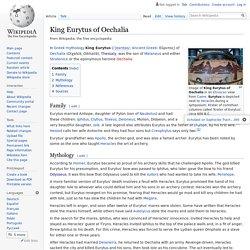 King Eurytus of Oechalia