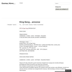 King Gong .. annonce | Essmaa, Hören, ..
