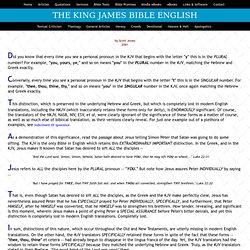 King James Bible English