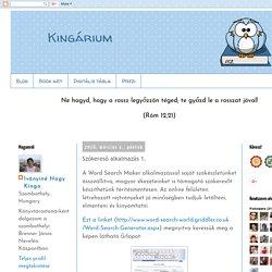 Kingárium: Szókereső alkalmazás 1.