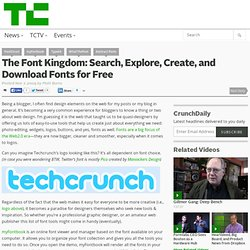 The Font Kingdom: Search, Explore, Create, and Download Fonts fo
