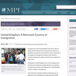 United Kingdom: A Reluctant Country of Immigration