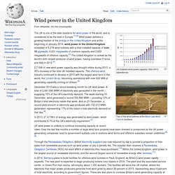 Wind power in the United Kingdom