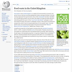 WIKIPEDIA - Food waste in the United Kingdom.
