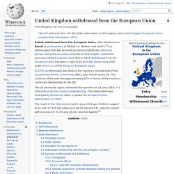 United Kingdom withdrawal from the European Union