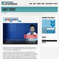 KingdomWarriors.com – Now Faith Is The Assurance of Things Hoped For. » Holy Spirit