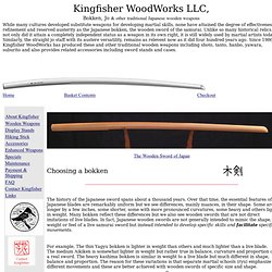 Kingfisher Woodworks: Bokken, Jo, Japanese wooden swords and sta