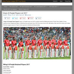 Kings XI Punjab Players List 2017 I Live Scores For IPL 2017