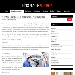 Why You Might Need a Plumber in Fredericksburg ‹ Kingslynnplumber – Furnish your Home