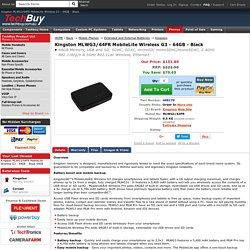 Kingston MLWG3/64FR MobileLite Wireless G3 - 64GB - Black