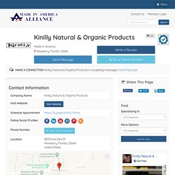 Kinilly Natural & Organic Products - Made In America -