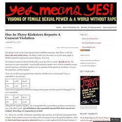 One In Three Kinksters Reports A Consent Violation