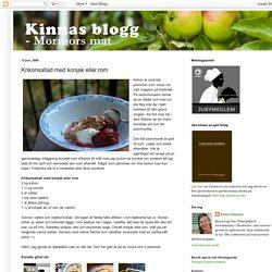 Kinnas blogg - mormors mat: Krikonsallad med konjak eller rom