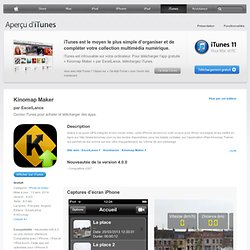 Kinomap Maker pour iPhone, iPod touch et iPad sur l'iTunes App Store