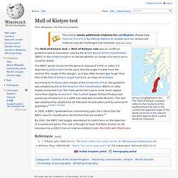 Mull of Kintyre test