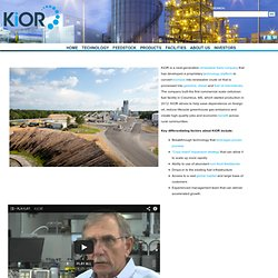 KiOR – Redefining Oil - Home