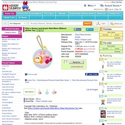 Kirby`s Dream Land Acrylic Slide Mirror (Ribbon) (Anime Toy)