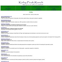 Kirby Peak Ranch - Aquaponics, Hydroponics Links