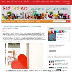 Kirigami Heart Corner Bookmarks (Valentine's)