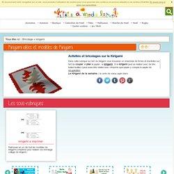 Kirigami: Des idees de kirigami, papier coupé et plié - Kirigami enfant- Tete a modeler