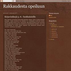 Kirjavinkkejä 5.-6. -luokkalaisille