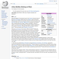 John Kirkby (bishop of Ely)