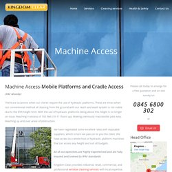 Machine Access in Kirkcaldy, Edinburgh, Scotland - Kingdom Clear